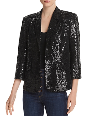 Cinq À Sept Blazers CINQ A SEPT JANA SEQUINED SINGLE-BUTTON BLAZER