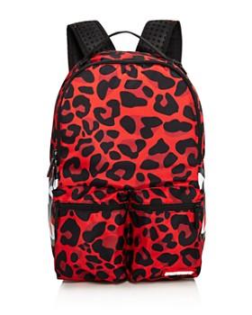 Sprayground - Boys' Leopard Double-Pocket Backpack