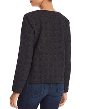 Eileen Fisher - Zip-Front Jacquard Jacket - 100% Exclusive