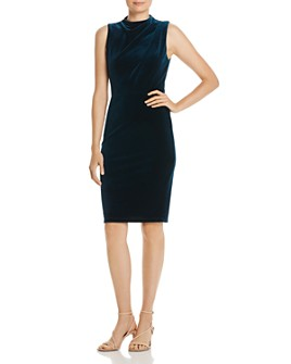 Black Halo - Corrine Velvet Sheath Dress