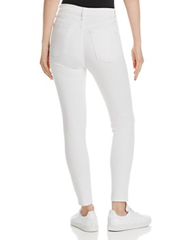 rag & bone - High-Rise Ankle Skinny Jeans in White