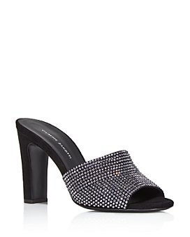 Giuseppe Zanotti - Women's Crystal-Embellished High-Heel Slide Sandals