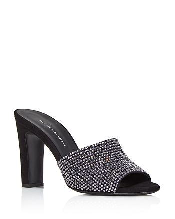 Giuseppe Zanotti - Women's Crystal-Embellished High-Heel Slide Sandals