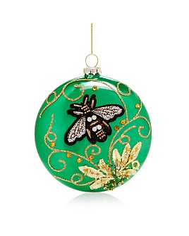 Bloomingdale's - Embellished Bee Glass Disc Ornament - 100% Exclusive