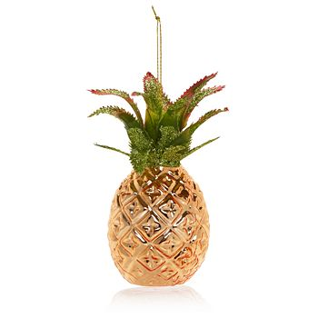 Bloomingdale's - Pineapple Glass Ornament - 100% Exclusive