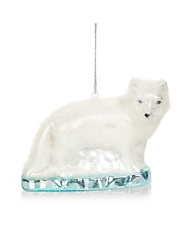 Bloomingdale's - Flocked Polar Bear Glass Ornament - 100% Exclusive