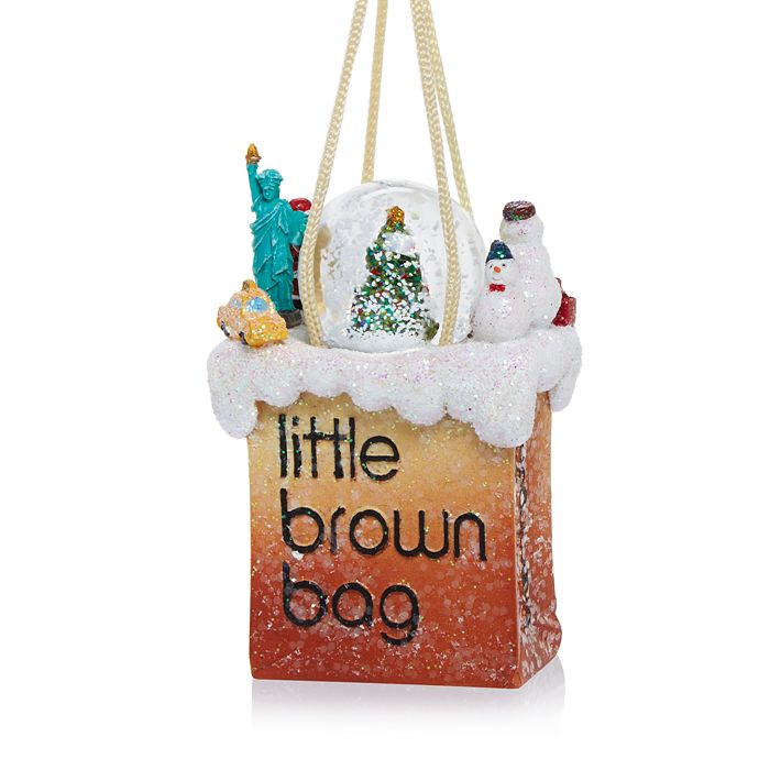 Bloomingdale's - Little Brown Bag NYC Christmas Tree Snowglobe Ornament - 100% Exclusive