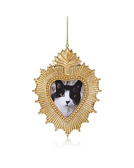 Bloomingdale's - Gold Heart Frame Ornament - 100% Exclusive