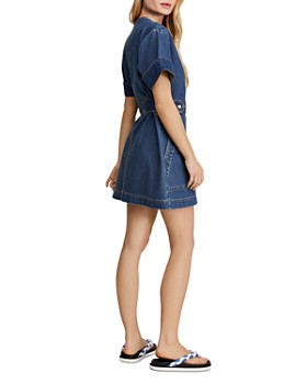Free People - Dream On Denim Mini Dress