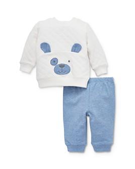 Little Me - Boys' Puppy Face Sweatshirt & Pants Set - Baby