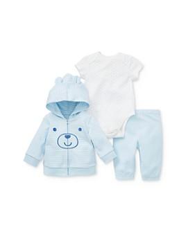 Little Me - Boys' Bear Hoodie, Bodysuit & Pants Set - Baby