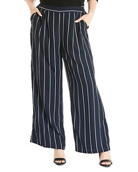 Estelle Plus - Seeing Stripes Wide-Leg Pants