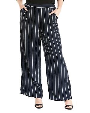 Estelle Plus Seeing Stripes Wide-Leg Pants