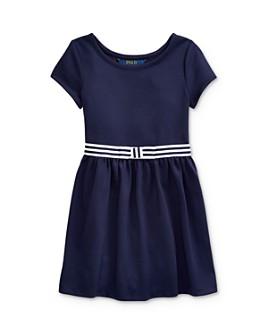 Ralph Lauren - Girls' Belted Ponte Dress - Little Kid