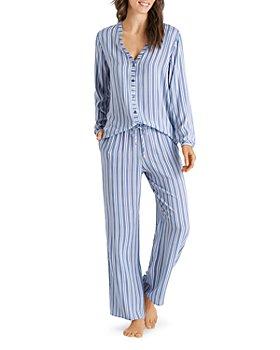 Hanro - Sleep & Lounge Woven Viscose Long-Sleeve Top & Drawstring Pants