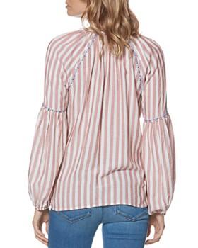 PAIGE - Jovannie Striped V-Neck Top