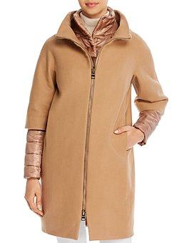 Herno - Mixed Media Zip-Front Coat