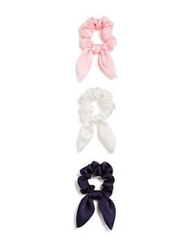 AQUA - Bow Detail Scrunchies, Set of 3 - 100% Exclusive