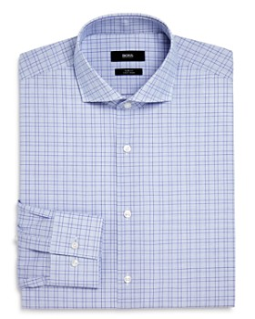 BOSS - Windowpane Slim Fit Dress Shirt