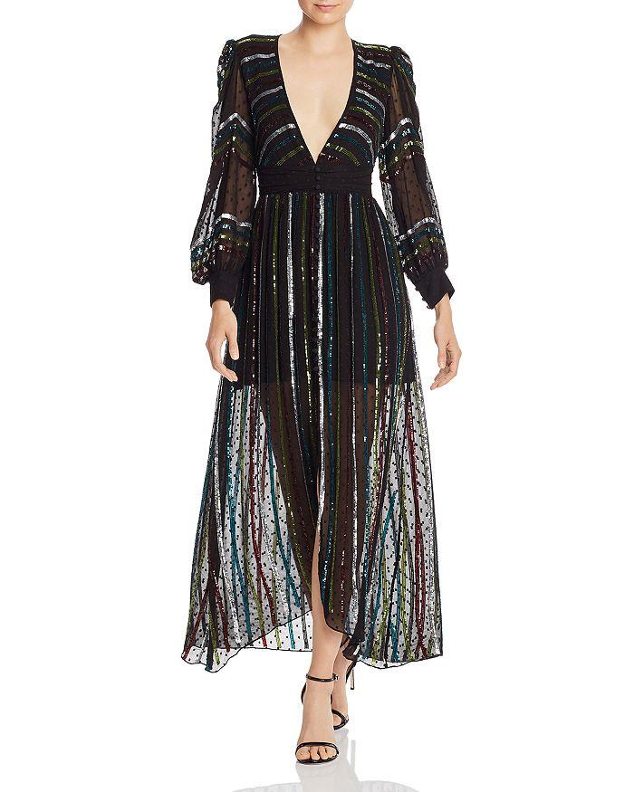 Rococo Sand - Sequin Striped Gown