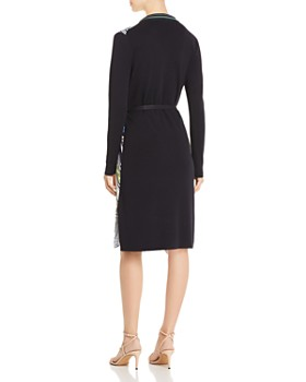 Tory Burch - Merino Wool & Silk Mixed-Media Shirt Dress