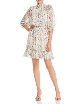 Joie - Shima Floral-Print Ruffled Dress