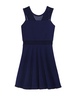 AQUA - Girls' Circle-Lace Dress, Big Kid - 100% Exclusive