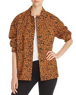 Marled - Leopard-Print Utility Jacket