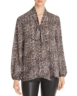 Marled - Tie-Neck Blouse
