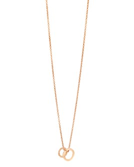 Pomellato - 18K Rose Gold Brera Brown Diamond Pendant Necklace, 17.3""