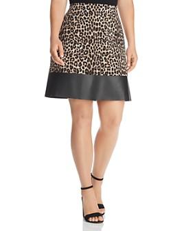 MICHAEL Michael Kors Plus - Leopard-Print Mini Skirt