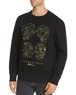 BLACKBARRETT by Neil Barrett - Long-Sleeve 3-D Skulls Sweatshirt