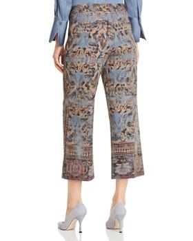 Kobi Halperin - Mirielle Tapestry-Print Cropped Pants