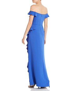 BCBG - Eve Ruffled Off-the-Shoulder Gown