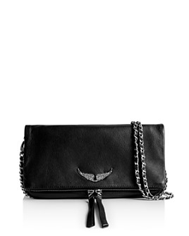 Zadig & Voltaire - Rock Grained Leather Clutch