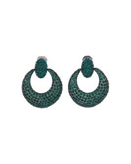 Oscar de la Renta - Pavé-Encrusted Clip-On Loop Earrings