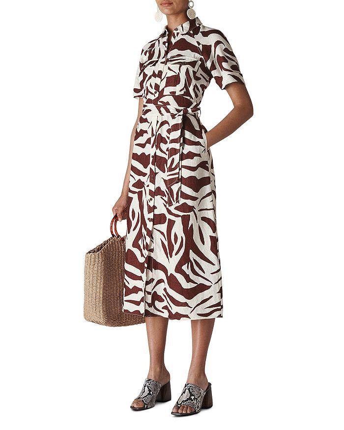 Whistles - Graphic Zebra-Printed Shirt Dress