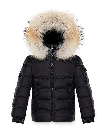 Moncler - Unisex Byron Fur-Trimmed Down Jacket - Big Kid