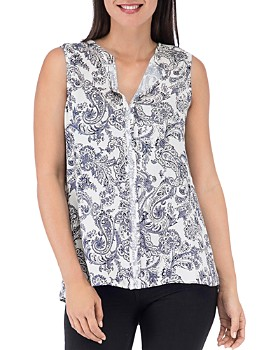B Collection by Bobeau - Sleeveless Paisley-Print Top