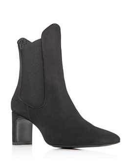 Dorateymur - Women's Square-Toe High Block-Heel Chelsea Booties