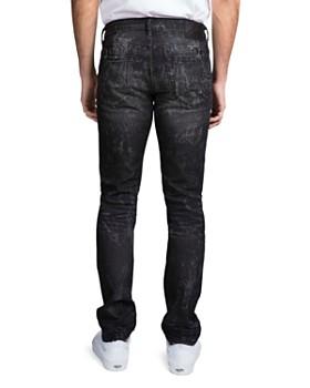 PRPS - Singapore Double Rip Light Bleach Slim Fit Jeans in Black
