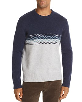 The Men's Store at Bloomingdale's - Color-Block Fair-Isle Merino Wool Sweater - 100% Exclusive
