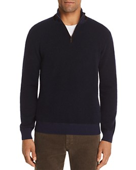 The Men's Store at Bloomingdale's - Half-Zip Boucle Sweater - 100% Exclusive