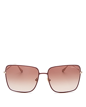 Tom Ford Women's Heather Square Sunglasses, 60mm