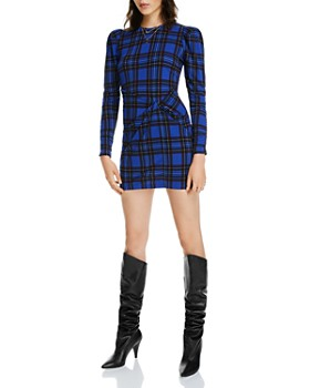 LINI - Penelope Twist-Front Plaid Dress - 100% Exclusive