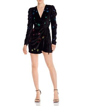 Rococo Sand - Sequined Stars Velvet Dress