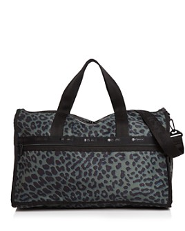LeSportsac - Candace Leopard-Print Weekender Duffel Bag
