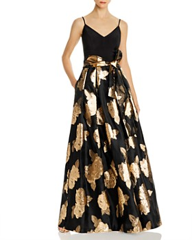 Eliza J - Metallic Rose Ball Gown