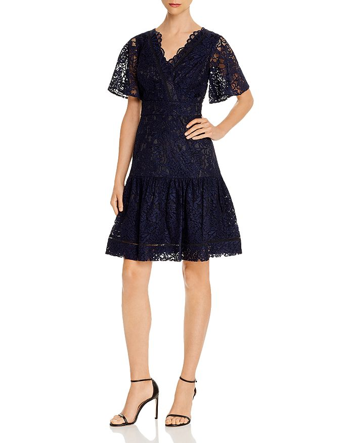 Eliza J - Lace Fit-and-Flare Dress