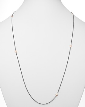 """Dodo - Sterling Silver & Rose Gold-Tone Starfish Charm Necklace, 35.43"""""""